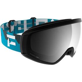 Flaxta Continuous Svømmebriller, black/flaxta blue-silver mirror